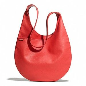 Coach Bleecker Red Leather Sling Bag